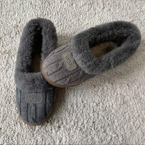 UGG Rylan Knit Gray Slippers Size 8
